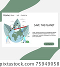 Save planet landing page, people volunteers clean and wash 75949058