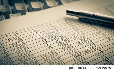 document, paper, keyboard 75949070