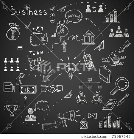 Business doodles 75967543