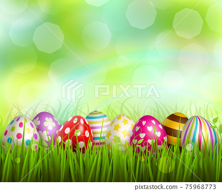 Easter Realistic Background 75968773