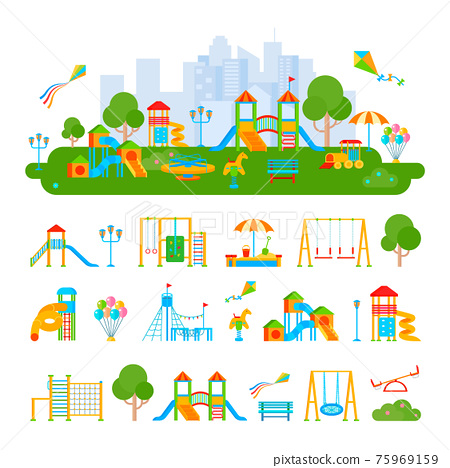 Childrens Playground Constructor Composition 75969159