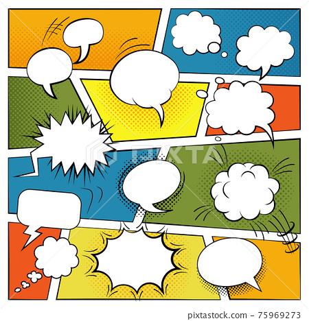 Blank Comic Bubbles Set 75969273