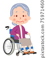 Grandmother on a Wheelchair 75971460