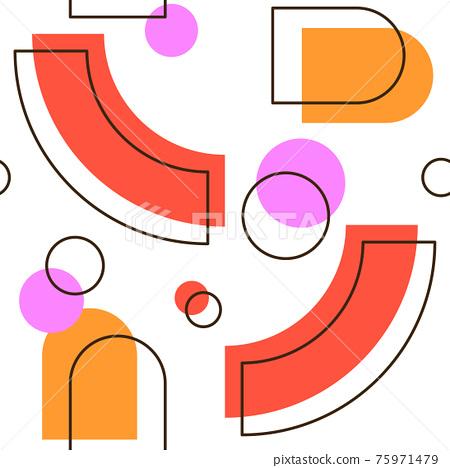 Abstract Geometric Seamless Pattern 75971479