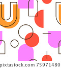 Abstract Geometric Seamless Pattern 75971480