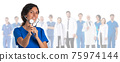 Medical doctors group isolated 75974144