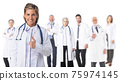 Medical doctors group isolated 75974145