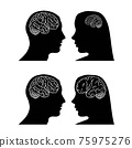 Brain in head woman and man 75975276
