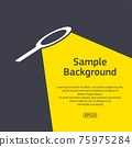 Search loupe light with sample text 75975284