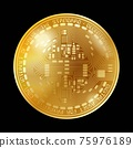 Empty coin gold background 75976189