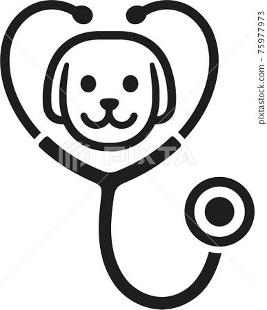 Dog stethoscope icon 75977973