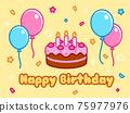 Cartoon Happy Birthday card 75977976