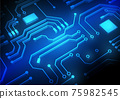 Circuit technology background with hi-tech digital data 75982545