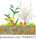 Fashionable flower bed 75984637