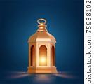 3d golden Arabic Ramadan lantern 75988102