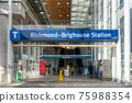 Entrance of Richmond-Brighouse SkyTrain Station. Richmond, British Columbia, Canada. 75988354