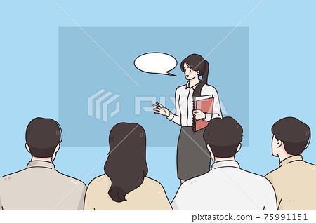 Coach, presentation and business presentation concept 75991151