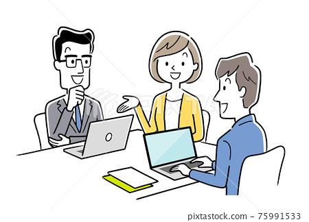 矢量圖素材:會議團隊,商業場景 75991533