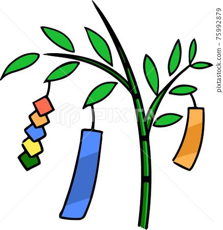 star festival, bamboo grass decoration, paper strip 75992879