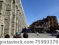 """穿越西班牙世界遺產城市""""塞哥維亞舊城區""""-羅馬渡槽 75993370"""