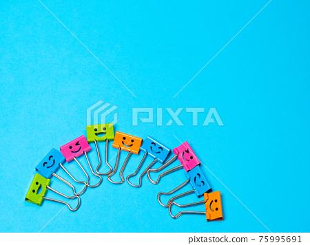 Funny smile metal binder clip 75995691