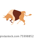 Vector image of a bull. Cattle. Farm illustration. 75998852