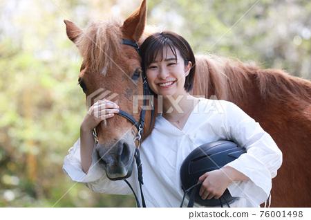 騎馬 女生 女孩 76001498