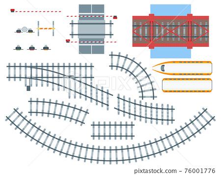 Flat Railway Elements Set 76001776