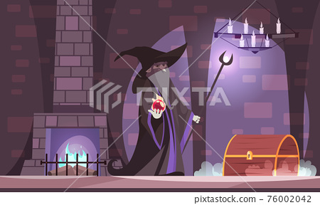 Wicked Magician Illustration 76002042