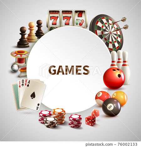 Games Realistic Round Frame 76002133