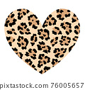 Leopard skin in heart shape.  76005657