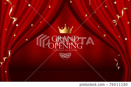 Grand Opening Luxury Invitation Banner Background. Vector Illustration 76011180