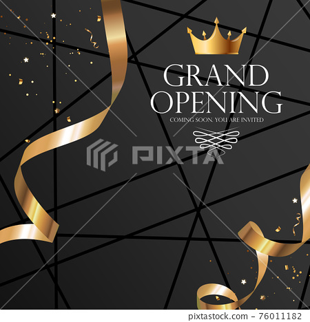 Grand Opening Luxury Invitation Banner Background. Vector Illustration 76011182
