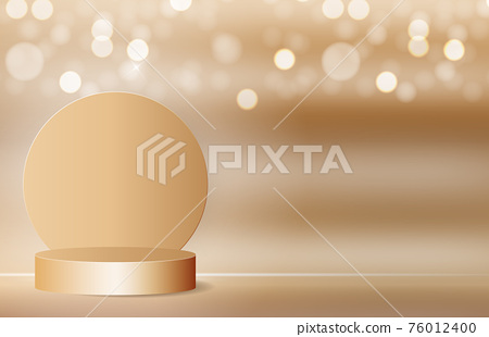 3d Background podium cylinder to show cosmetic product template. Vector Illustration 76012400