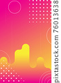 Pink abstract background with circles for stories, social networks. Vector Illustration 76013638