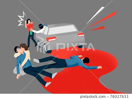 Crime, violence, accident concept illustration 005 76027631
