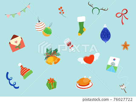Winter accessories elements background illustration 007 76027722