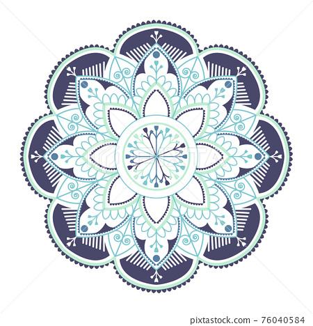 Blue Indian mandala 76040584