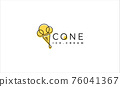 ice cream cone logo Design Vector illustration 76041367