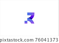 Letter R Modern Logo Design vector illustration 76041373