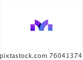 Letter M Modern Logo Design vector illustration 76041374