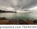 Lerici town in winter - Tourist Resort in the Gulf of La Spezia Liguria Italy 76046384