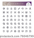 Security Line Icons Set 76046799