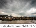 Lerici town in winter - Tourist Resort in the Gulf of La Spezia Liguria Italy 76046977