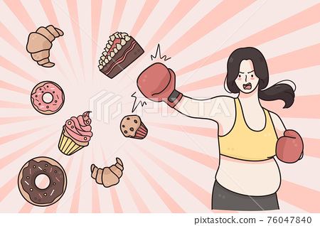 Dieting, weight loss healthy lifestyle concept 76047840