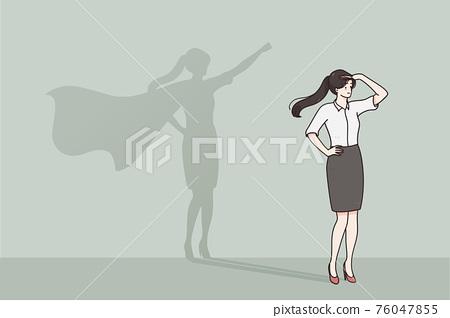 Self esteem, success, leadership concept 76047855