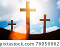 Religious concept with cross against sky 76050662