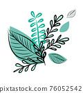 Decorative bouquet of simple twigs. Vector illustration 76052542