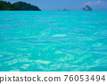 Tropical beach water background 76053494