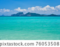 Tropical beach water background 76053508